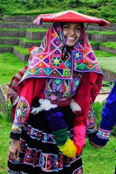 Traje de novia típico de Perú