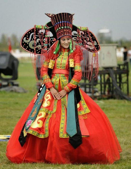 Traje de novia típico de mongolia