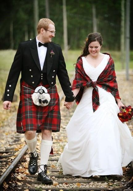 Traje de novia típico en escocia