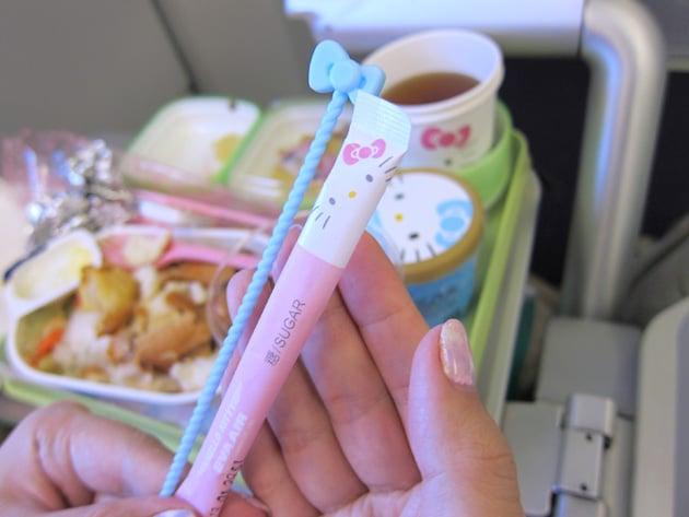 detalles vuelo Hello Kitty