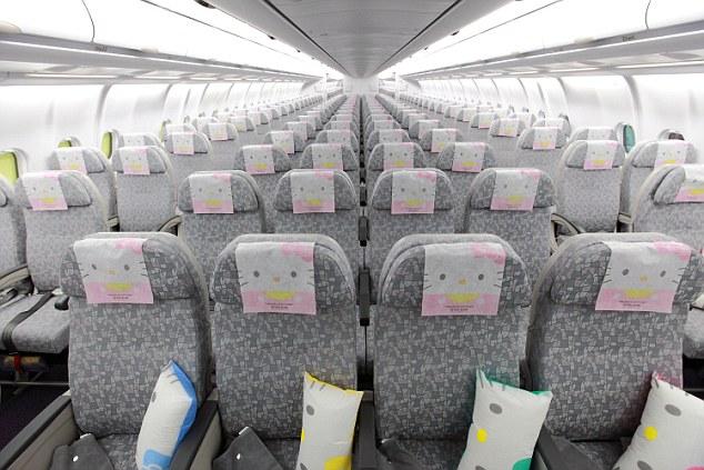 asientos vuelo Hello Kitty