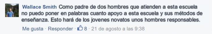 captura de pantalla de comentario de facebook