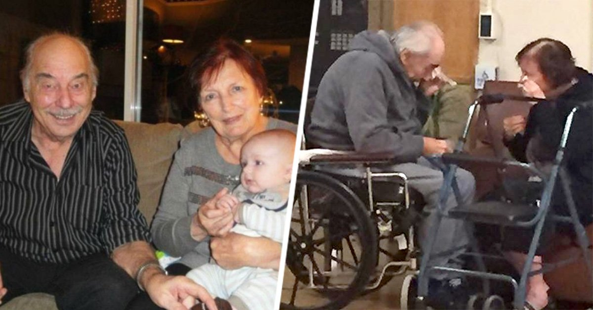 Separan a una pareja de abuelos en diferentes asilos y esta es la desgarradora imagen