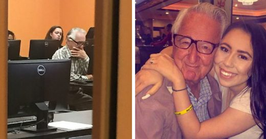 Jamás es tarde para seguir tus sueños; este abuelo se inscribió a la Universidad ¡y comparte clases con su nieta!