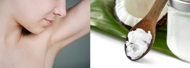 Coconut oil as a natural deodorant.