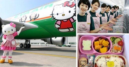 Un sueño hecho realidad: conoce el nuevo avión de Hello Kitty