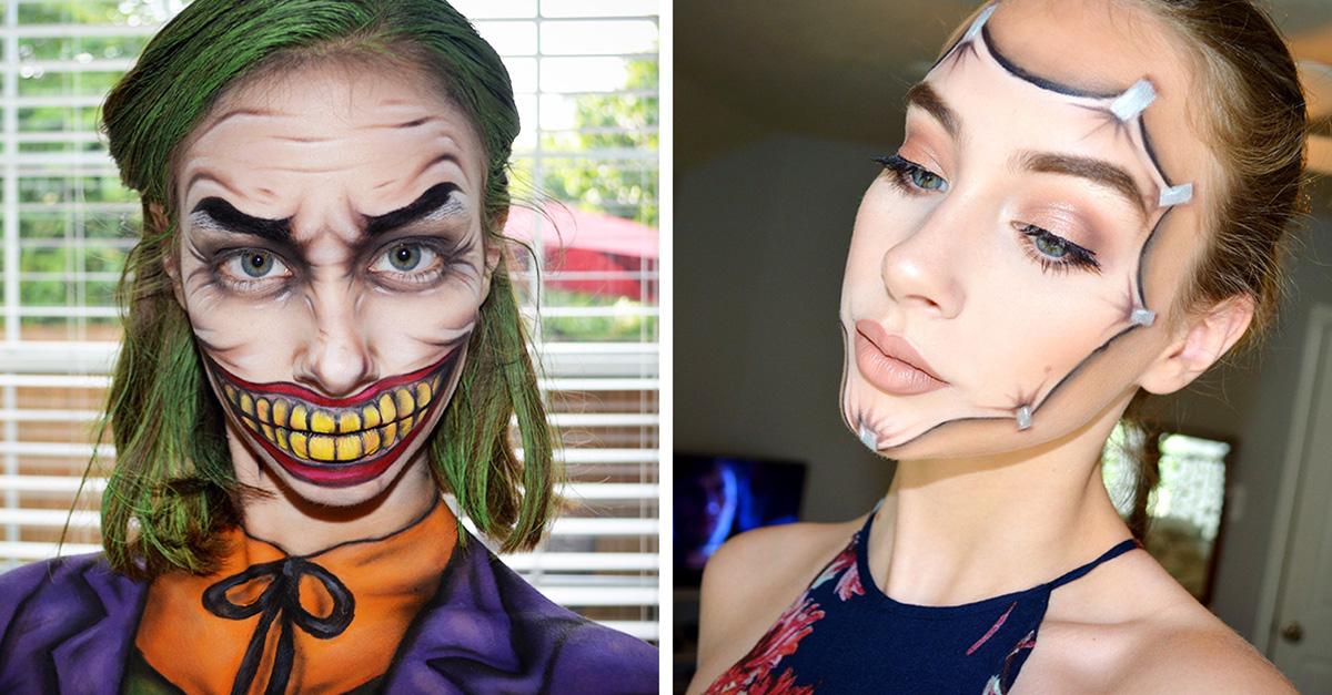 Con sólo 15 años esta chica crea impresionantes maquillajes de fantasía