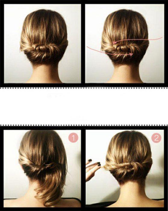 Paso a paso de cómo hacer un peinado recogido.