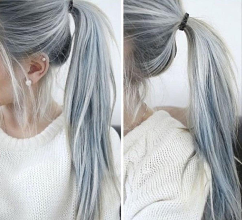 Como pintar el cabello en color plata