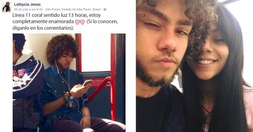 Ella lo vio en el metro, se enamoró, puso un anuncio en Facebook ¡Y ahora son pareja!