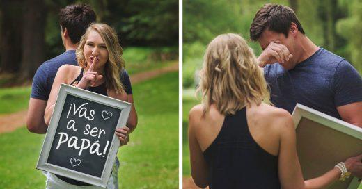 Ella planeó una sesión de fotos para decirle a su esposo que sería papá