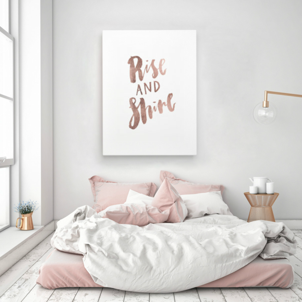 25 accesorios y regalos para chicas amantes del rose gold - Bed room color for girls ...