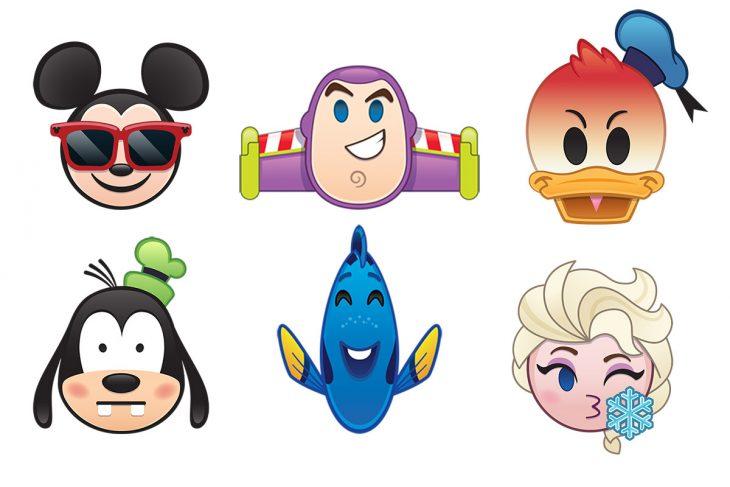 Personajes de Disney como emojis.