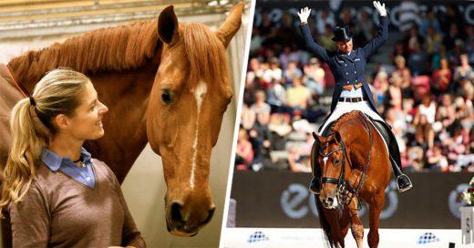 Jinete abandona prueba olímpica para salvar a su caballo