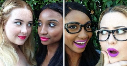 Estas dos chicas prueban el mismo lipstick con su diferente tono de piel y el cambio es impresionante