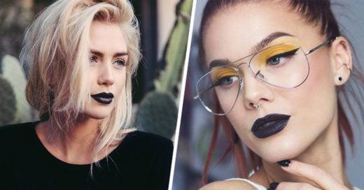15 Razones por las que las mujeres NUNCA deberían usar un labial color negro