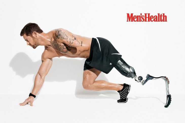 Noah Galloway para Mean's Health.