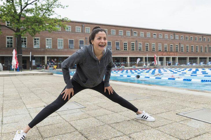 Yusra Mardini durante un entrenamiento.