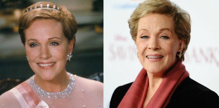 mujer de cabello corto rubio antes y después