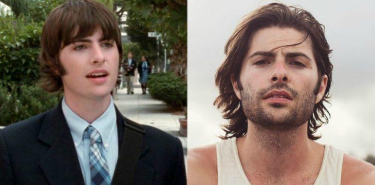 hombre blanco de cabello largo antes y después