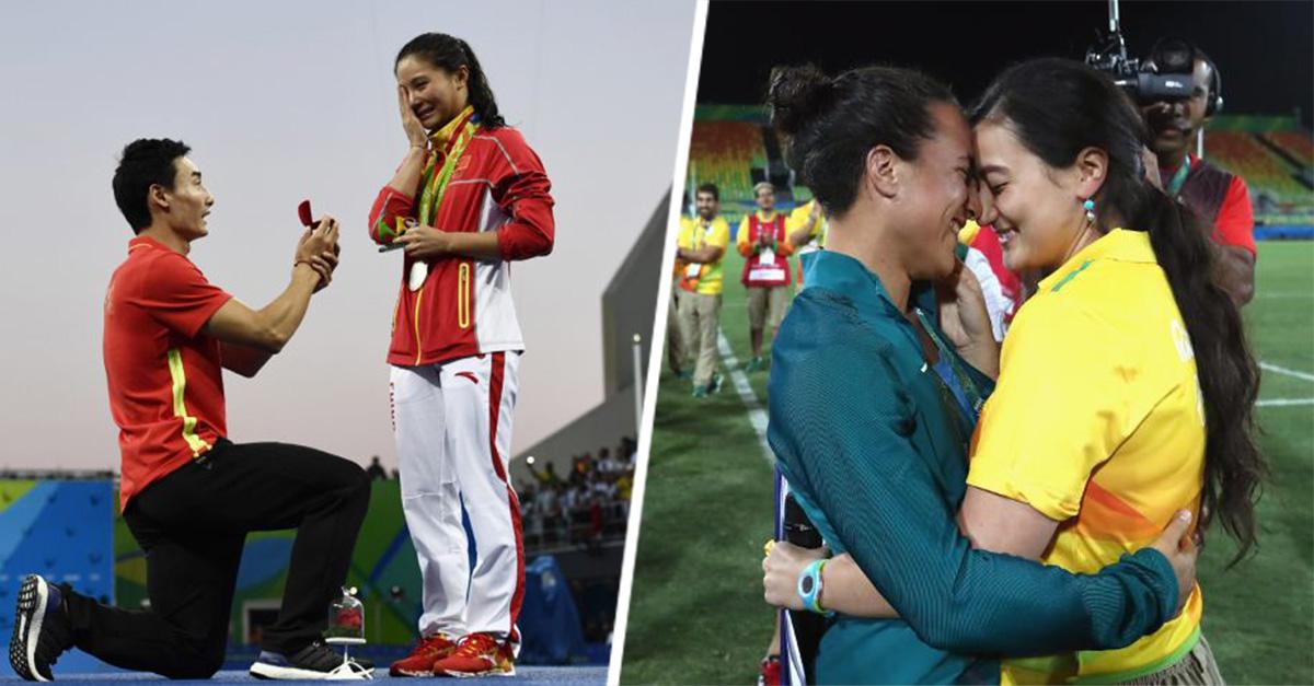 ¡Las Olimpiadas del amor! Atletas se comprometen en los Juegos Olímpicos de Río 2016