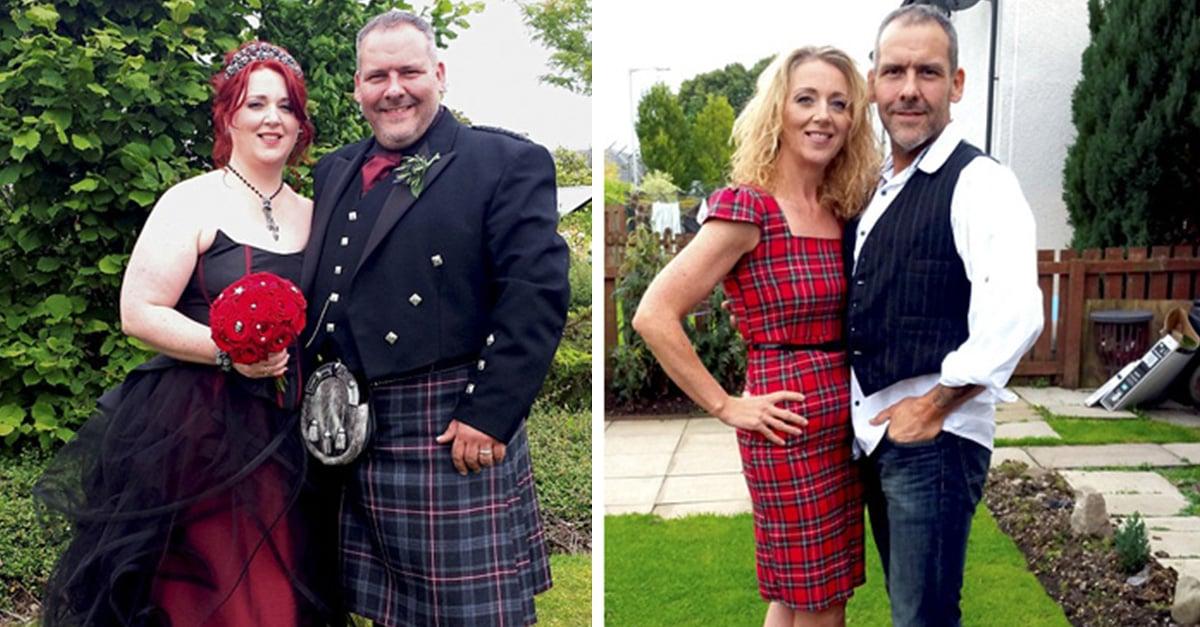 Este es un antes y después de parejas que perdieron peso