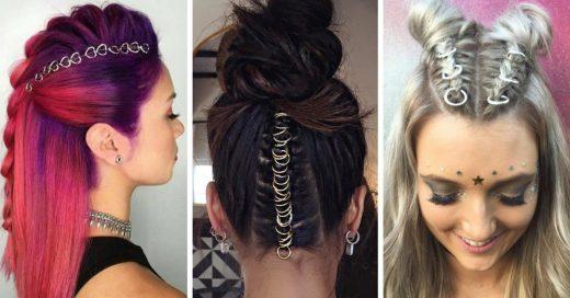 20 peinados para presumir con la tendencia de anillos para el cabello