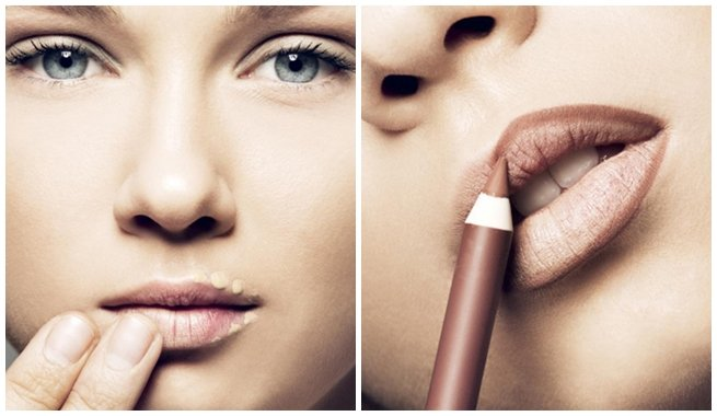 Lipstick with correction.