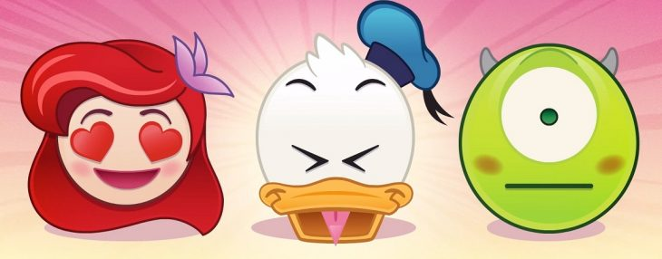 Los personajes de Disney convertidos en emojis.