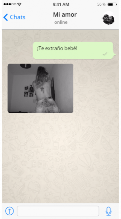 Captura de pantalla whatsapp