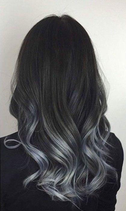 strayhair.com charcoal-to-silver-balayage-hair