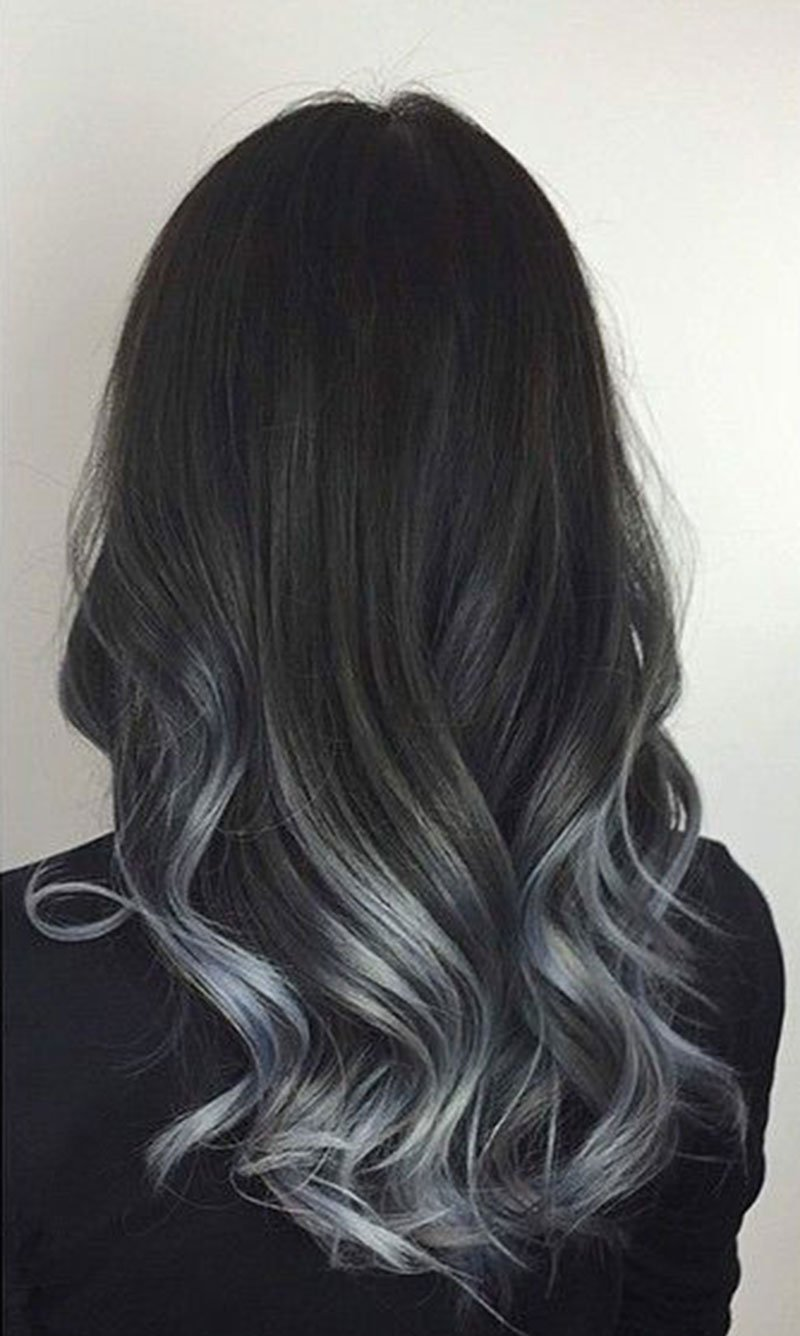 strayhair.com charcoal,to,silver,balayage,hair