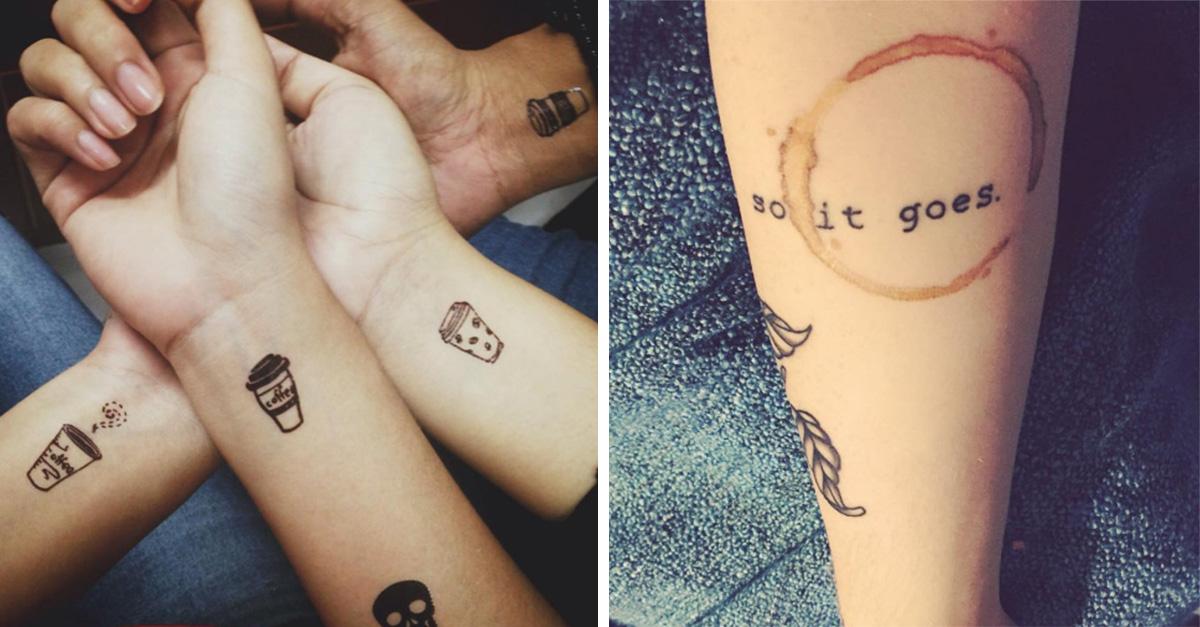 20 Originales tatuajes que sólo las chicas que aman el café merecen tener en su piel