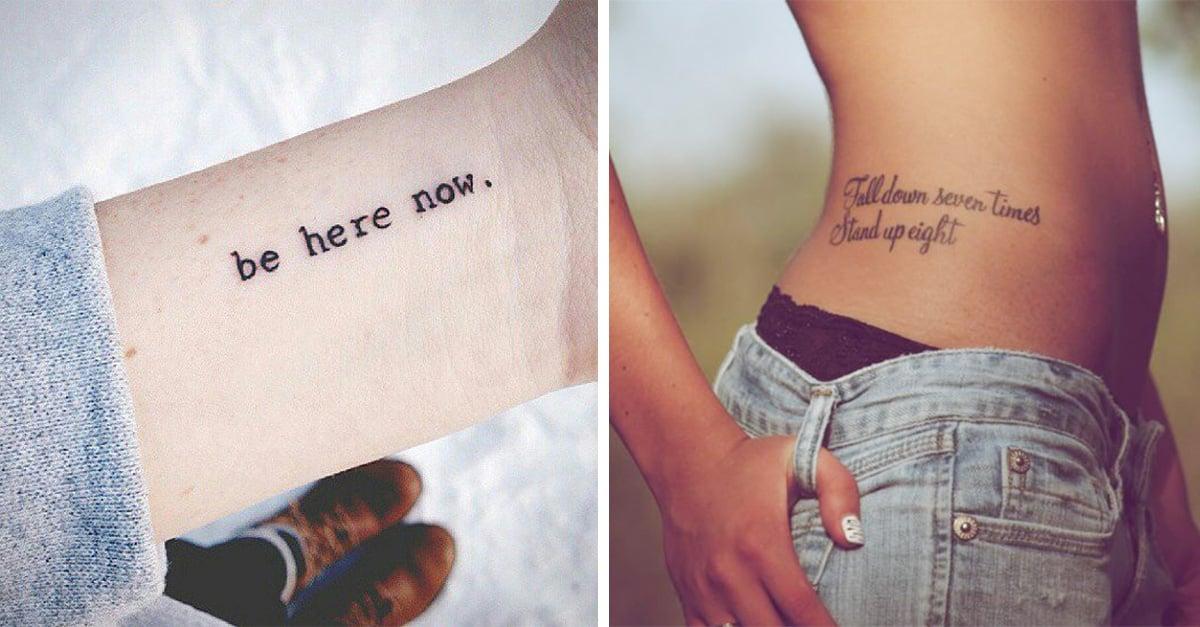 tatuajes de frases que cambiarán tu vida
