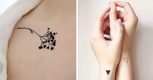 15 tatuajes minimalistas que querrás tener