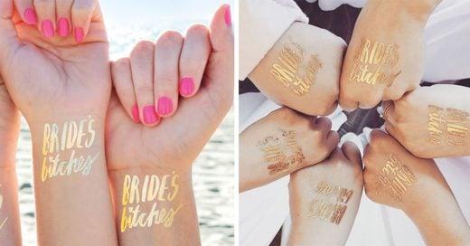 Aquí están 7 diseños de tatuajes temporales para las damas de honor que seguro te encantarán