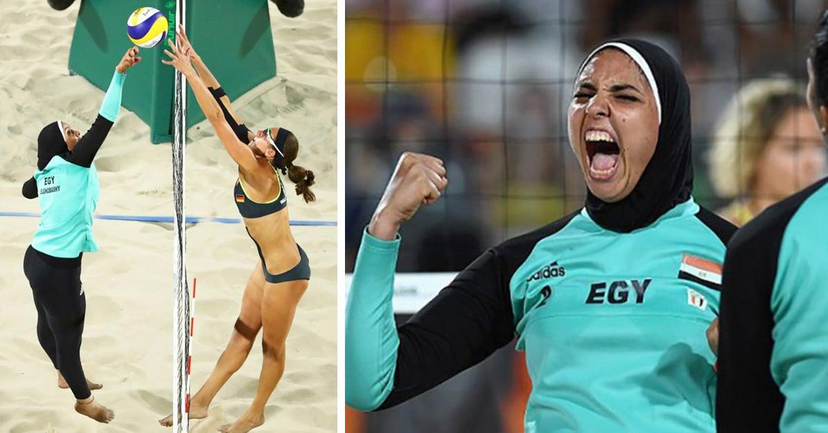 La razón por la que los uniformes de el equipo de voleibol playero femenil de Egipto se volvieron virales