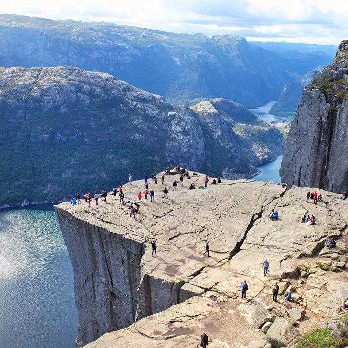 Walking in Norway.