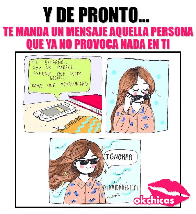 meme ok chicas ilustracion de chica con lentes