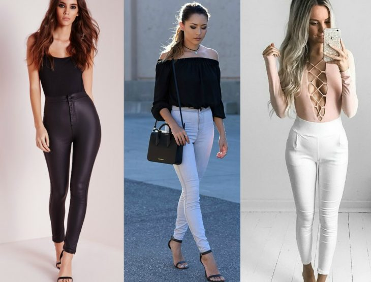 tres estilos de pantalones a la cintura