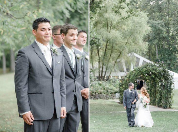 El novio en espera de la novia.