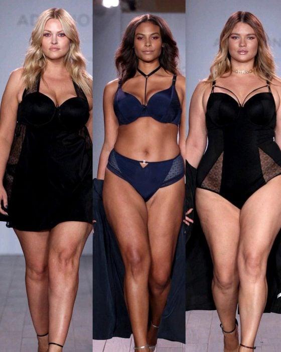 Modelos durante la semana de moda en Nueva York.