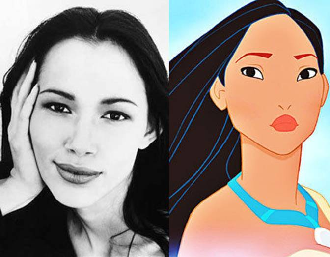 Irene Bedard and Pocahontas