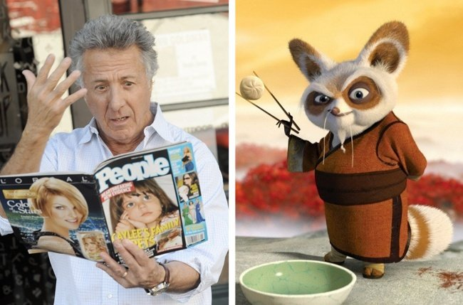 Dustin Hoffman and Shiffu