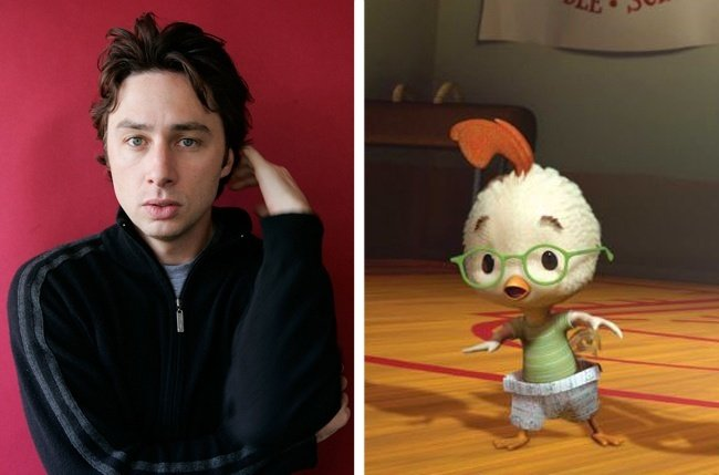 Zach Braff y Chicken Little