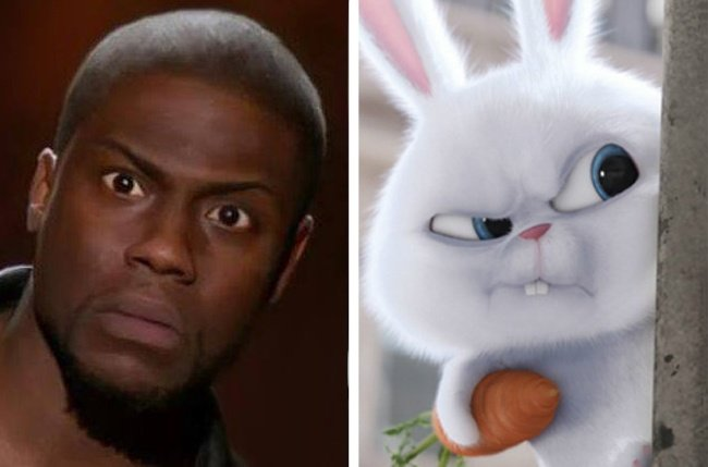 Kevin Hart and Snowball