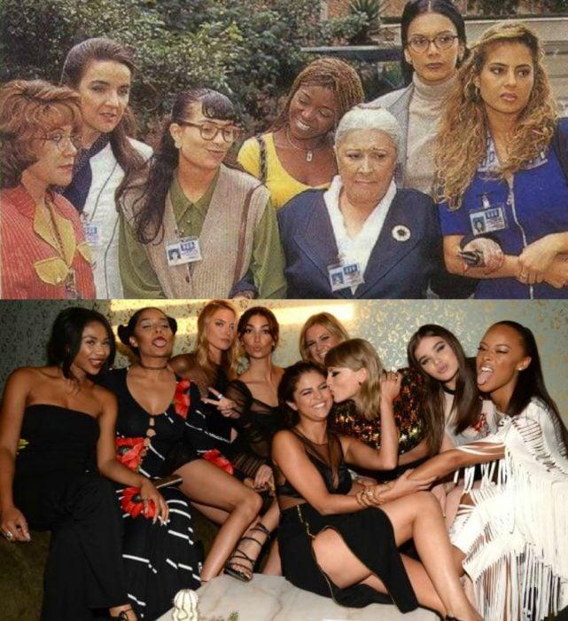 grupo de mujeres amigas