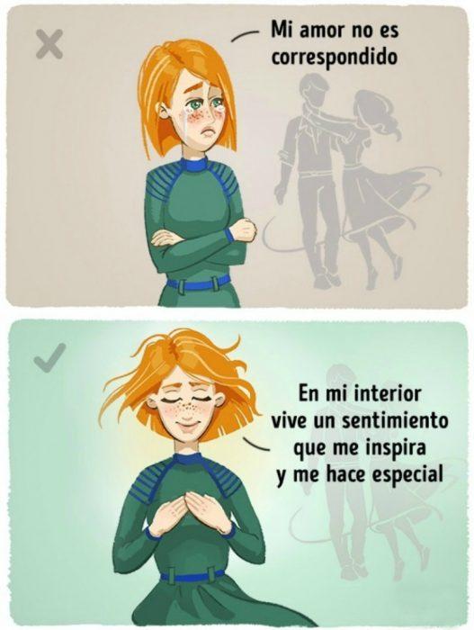 ilustración de mujer pelirroja
