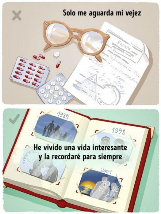 ilustración libro album de fotos