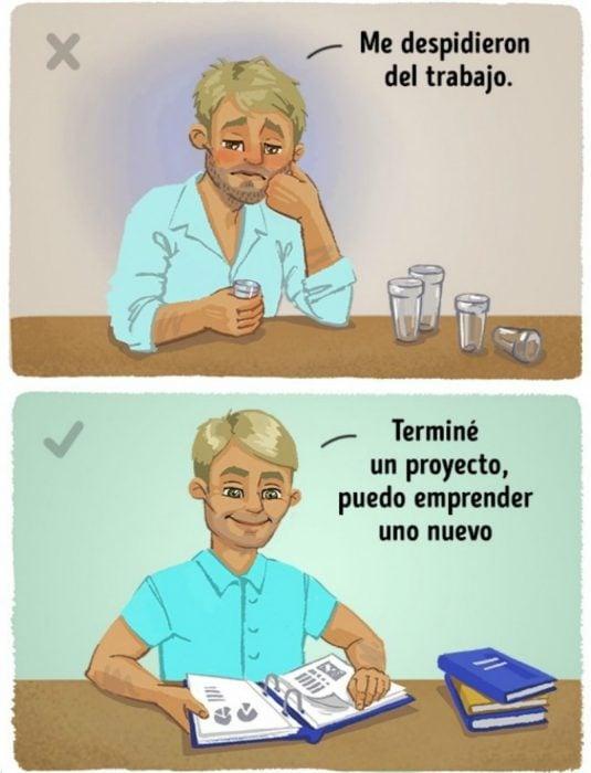 Ilustración de hombre tomando